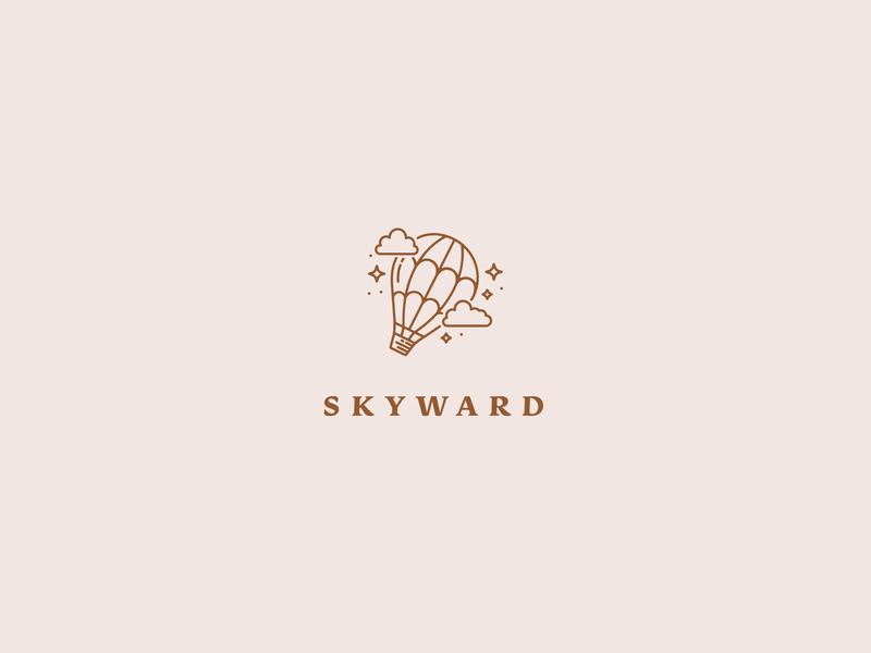 Skyward Logo dailylogochallenge clouds sky stars hotairballoon vector icon logo typography lettering illustrator brand identity branding illustration design