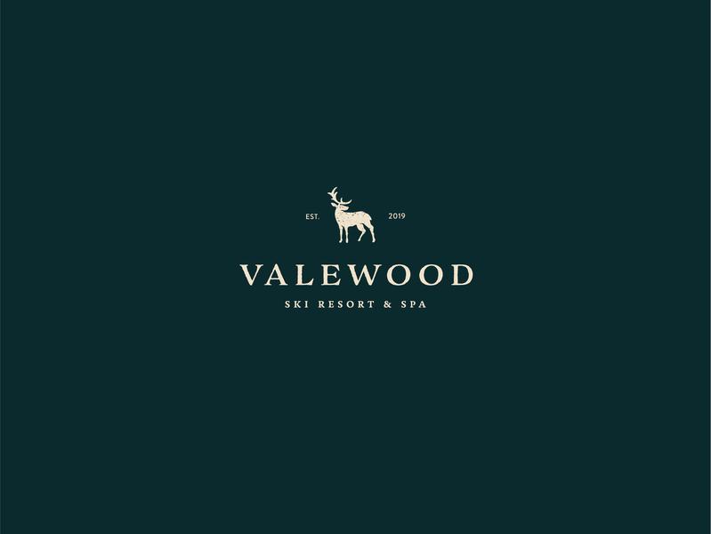 Valewood Logo dailylogo animal art icon logotype dailylogochallenge vector typography logo lettering illustrator brand identity illustration branding design