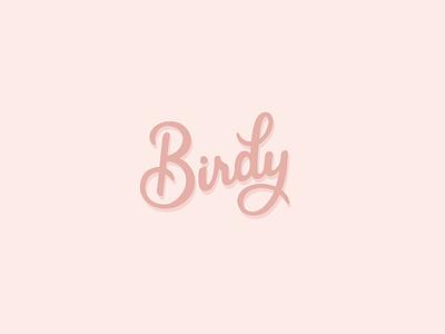 Birdy Logotype dailylogo logotype dailylogochallenge vector typography logo lettering illustrator brand identity illustration branding design