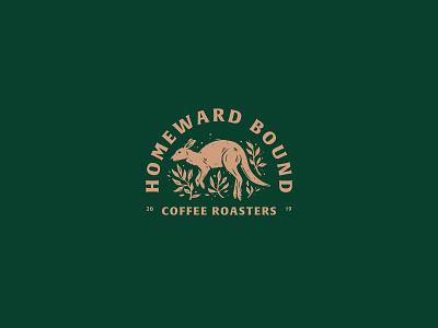 Homeward Bound Coffee animal art dailylogo dailylogochallenge vector typography logo lettering illustrator brand identity illustration branding design