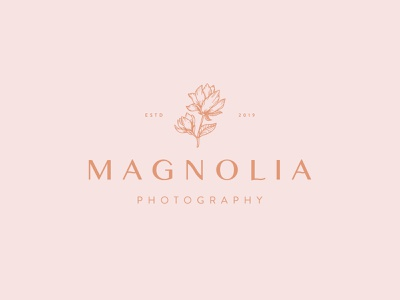 Magnolia Photography logotype dailylogo icon dailylogochallenge vector typography logo lettering illustrator brand identity illustration branding design
