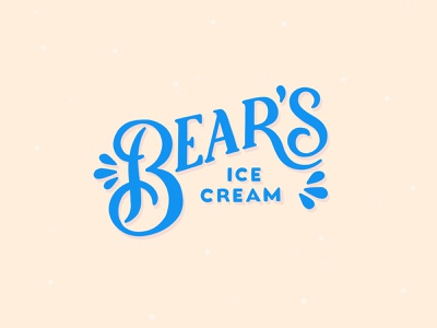Bear's Ice Cream bear logotype dailylogochallenge typography lettering logo illustrator brand identity illustration branding design