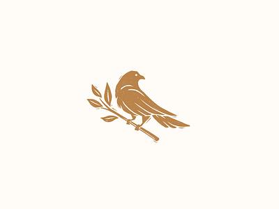 Bird on a branch animal art process procreateapp procreate icon vector illustrator illustration branding design