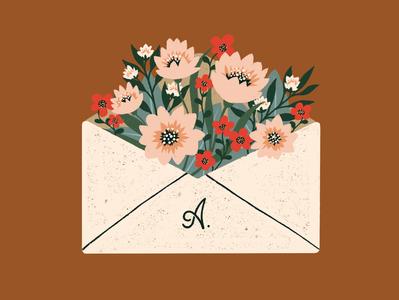 Floral Envelope procreate lettering illustrator illustration