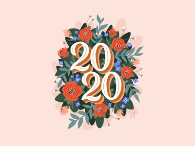 Hello 2020 design typography lettering illustrator illustration