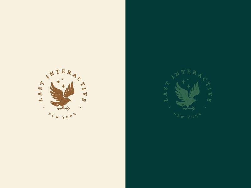 Last Interactive Badge animal art vector typography logo brand identity lettering illustrator branding illustration design