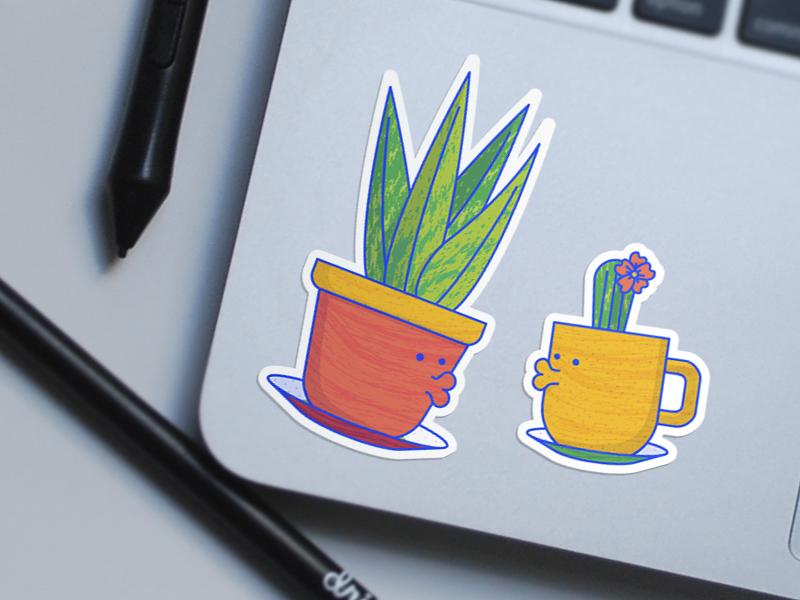 Lovely Plants Sticker Design