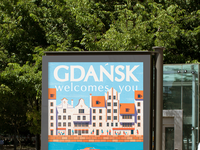 Old town gdansk mockup citylight lina leusenko