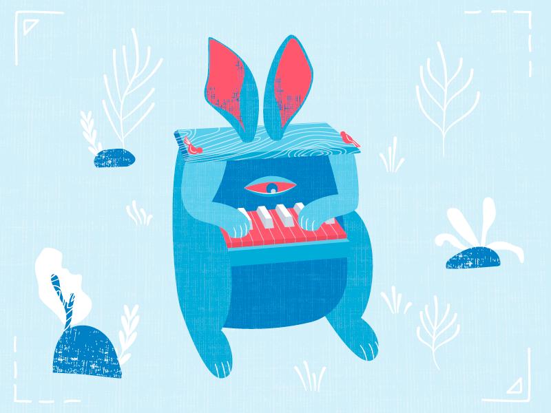 Bunny the piano