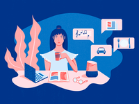 Virtual Assistants - Blog Article Illustration