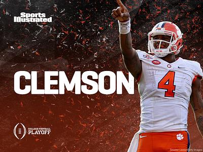 College Football Playoffs - Clemson football sports illustrated brushwork confetti clemson playoffs college football