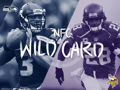 Seahawks vs. Vikings - Wild-Card Matchup playoffs sports illustrated football hand lettering nfl