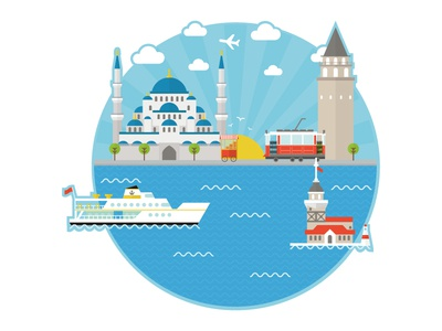 Istanbul City Illustration