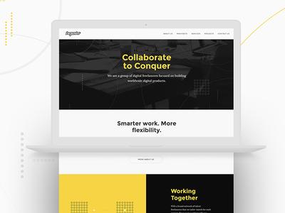 New Website Trezentos website startups freelancers yellow black clean minimal ux