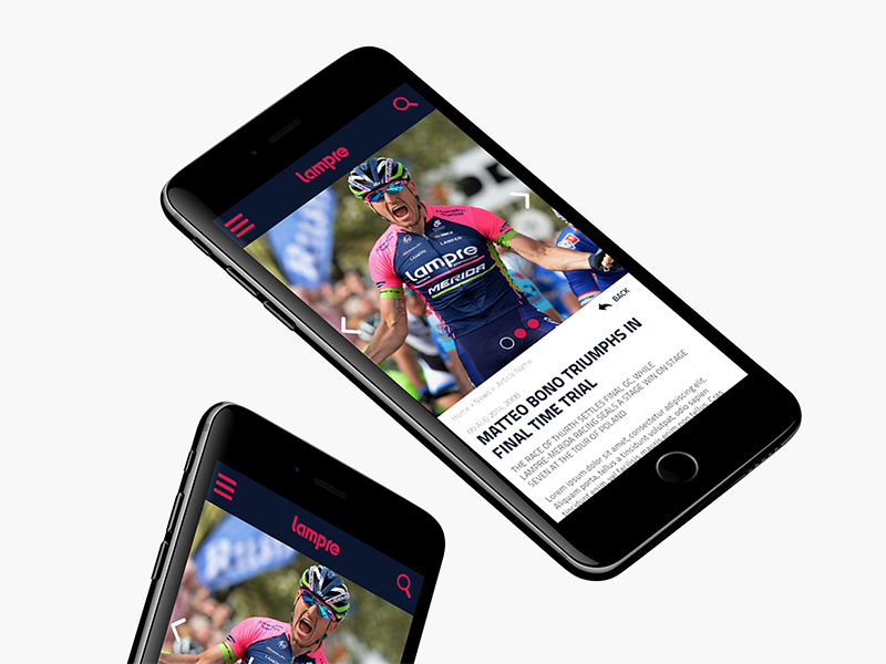 Lampre Merida App Concept cycling android ios content mobile app