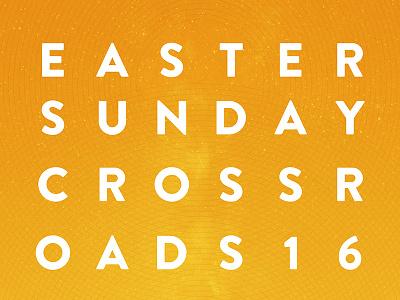 Easter at Crossroads poster plainjoe crossroads easter