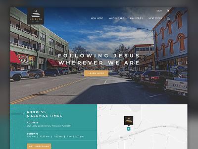 Heights Church church ux typogaphy modern digital website ui layout plainjoe web design homepage