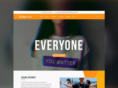 City Church church bold colors modern orange website graphic design plainjoe studios redesign homepage digital design ui ux web design