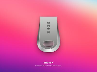 SanDisk Ultra Luxe USB flashdrive Icon icon mac design ui