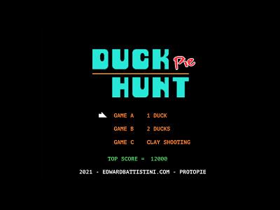 DUCK HUNT Pie - playoff pieday pixel protopie prototype retro ui app
