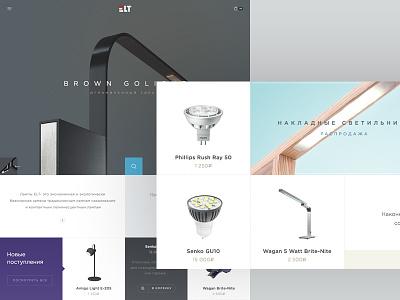 Elt company e-commerce design flat online clean metro ux shop store website ui business