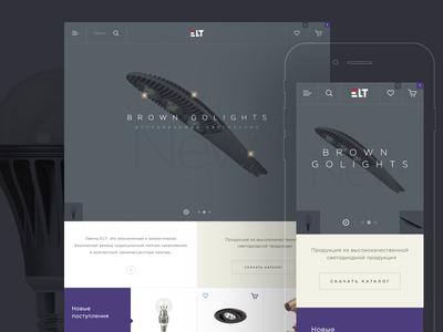 Elt online store web-design ui ux promo business website e-commerce flat metro clean shop design