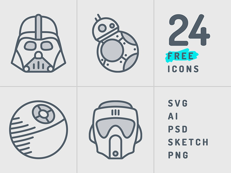 Starwars Icon Set by Sherzod Mirzaakhmedov on Dribbble