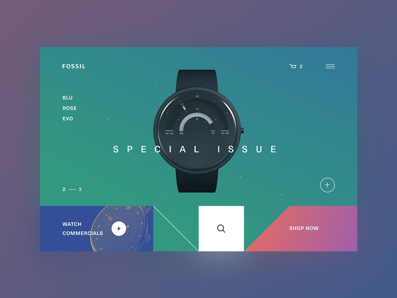 FOSSIL:. .  : Concept green blue red colors awwwards behance dribbble ui ux user interface user experience ui design ux design product design dark theme web-design promo business watch e-commerce online store shop typography visual design