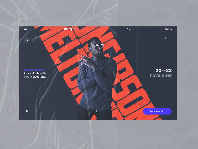 veeps. typography type userinterfacedesign uix business promo clean photoshop figma sketch app awwwards behance dribbble web website design visual design product design user experience user interface ui ux red blue black dark colors ux design ui design