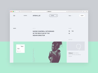 afisha_uz spacious business promo clean news event website product design visual design user experience user interface ui designer web website design ui ux ux design ui design