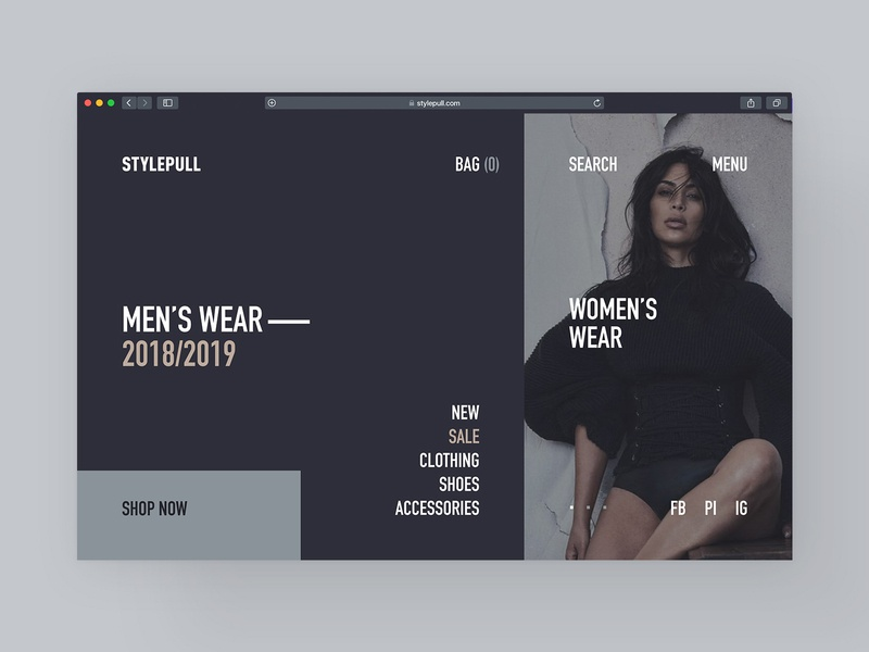 Stylepull landing page business clean promo dark colors web-design product visual design userinterfacedesign ux design ui design userinterface ui ux men women wear web website design style fashion blog