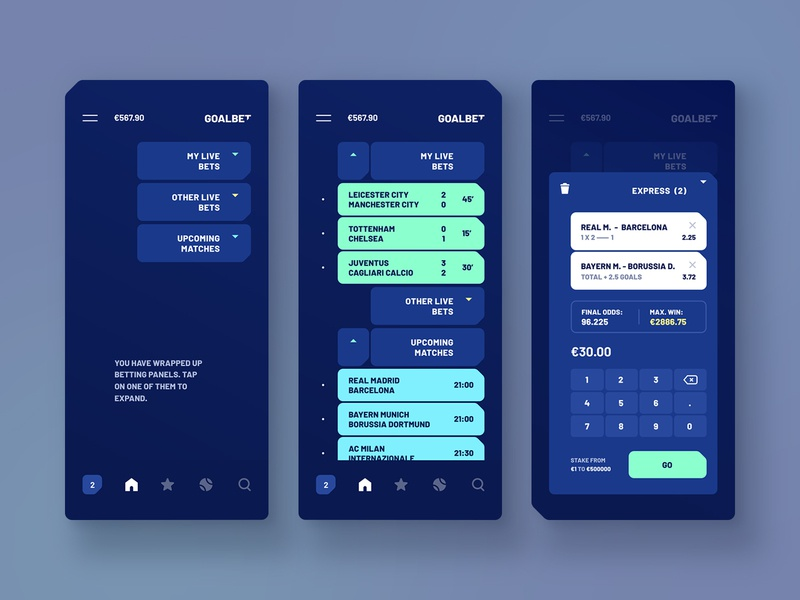 Goalbet interaction app design dark betting soccer score user experience design user interface design mobile interface visual design product design mobile design mobile app android material ios ux design ui design ui ux