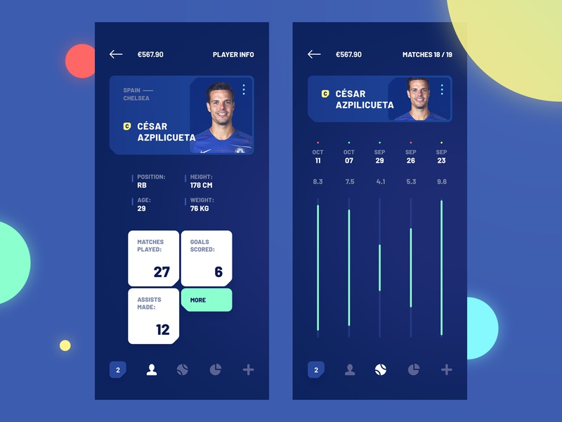 Goalbet graphic design mobile interface mobile design chelsea football club cesar azpilicueta dark betting soccer score user interface design product design visual design ui design ux design mobile app ios android material ui ux