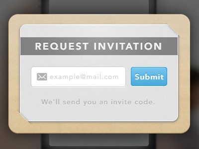 Invitation request form. invite invitation form email submit