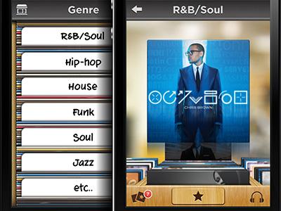 Music store app ui2
