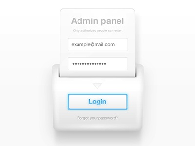 Admin Panel Login Form login sign in