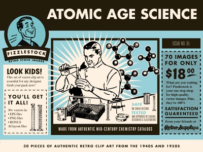 Atomic Age Science Part 1 science age atomic fizzlestock vintage retro retro supply retro supply co