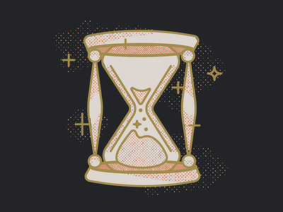 Hourglass magic halftones distressed space time board ouija hourglass