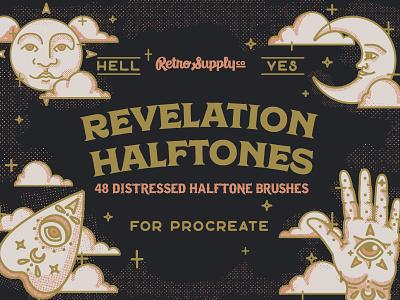Revelation Halftones Cover weeja ouija distressed retro vintage halftones