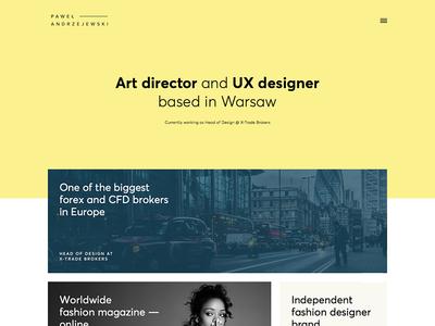 Andrzejewski Portfolio - Dribble Debut firstshot ux ui design web debut portfolio