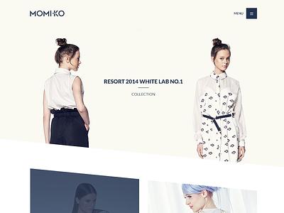 MoMi-Ko - Branding & Website site web fashion webdesign branding