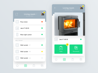 eVici app ux ui minimal maintenance house home concept evici app