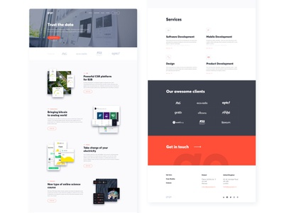 GogoApps - New Website gogoapps ui ux web landing page website homepage software house video clean minimal