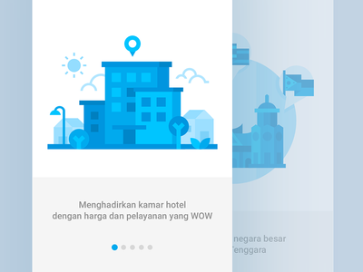Onboarding preview blue minimalist flat design illustration android welcome screen onboarding