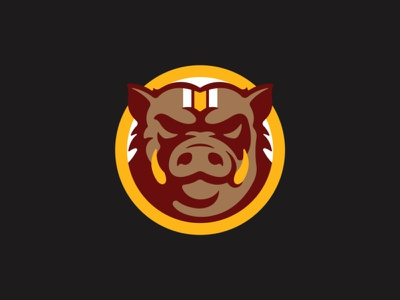 Cardboard Hogs stronghold studio buffalo ny branding sports mascot character washington redskins football animal warthog hog pig