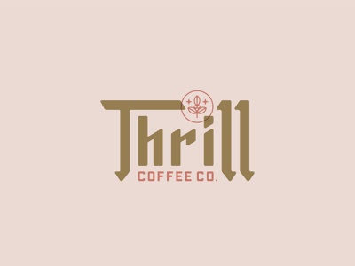 Thrill Coffee Co. Logo Concept buffalo ny stronghold studio toronto coffee identity brand identity logo branding typography type