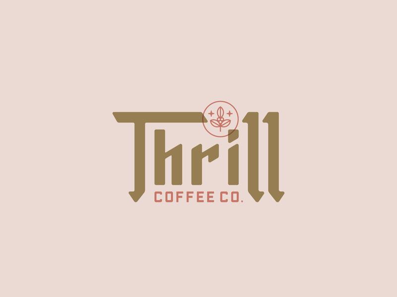 Thrill Coffee Co. Logo Concept buffalo ny stronghold studio toronto coffee identity brand identity logo branding typography type