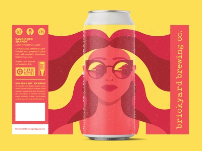 Sand Dock Shandy stronghold studio buffalo ny packaging packaging design label design beer label craft brewery brewery beer