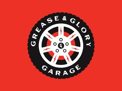 Grease & Glory stronghold studio buffalo ny branding logo garage automotive cars wheel tire