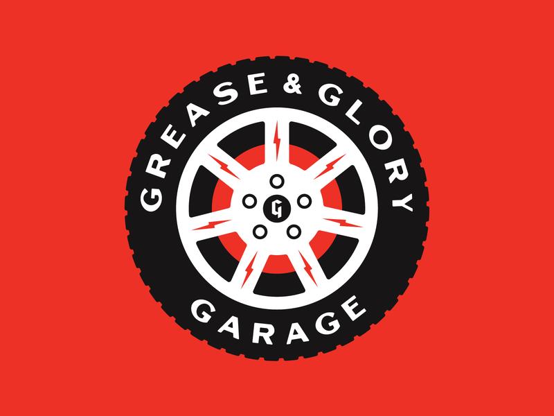 Grease & Glory stronghold studio buffalo ny branding logo garage automotive cars wheel tire